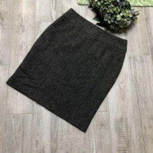 CAbi Black Tweed Straight Pencil Skirt Style 245